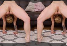 Spandex anal gymnastic